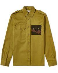Gosha Rubchinskiy Gabardine Military Pocket Shirt - Green