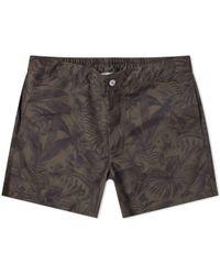 Officine Generale Roman Jungle Swim Short - Green