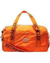 Moncler Nivelle Patch Logo Nylon Holdall - Orange