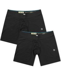 Stance Staple 6-inch Boxer Brief 2-pack - Black