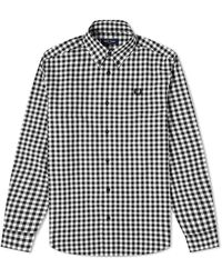 Fred Perry Button Down Gingham Shirt - White