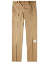 Thom Browne Unconstructed Twill Logo Chino - Brown