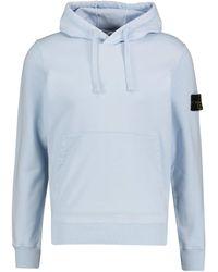 Stone Island Sweatshirt mit Kapuze - Blau