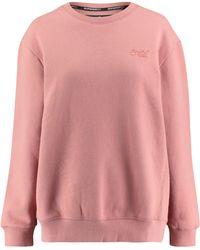 """Superdry Sweatshirt """"Ol Elite Crew"""" - Pink"""