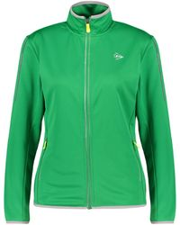 """Dunlop Tennisjacke """"Knitted Jacket"""" - Grün"""