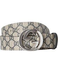 Gucci Gürtel mit Monogrammmuster - Blau