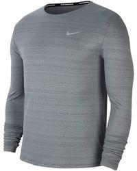 "Nike - Laufshirt ""Dri-FIT Miler"" Langarm - Lyst"