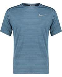 "Nike Laufshirt ""Dry Miler"" Kurzarm - Grau"