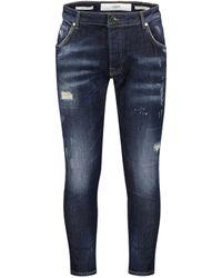 """Goldgarn Denim Jeans """"Twisted Neckarau"""" Skinny Fit - Blau"""