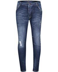 """Goldgarn Denim Jeans """"Neckarau"""" Twisted - Blau"""