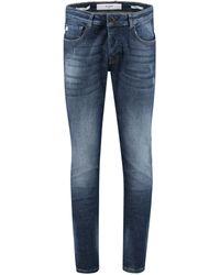 "Goldgarn Denim Jeans ""U2"" Slim Fit - Blau"