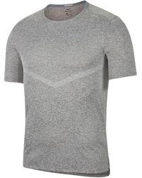"Nike Laufshirt ""Rise 365"" Kurzarm - Grau"
