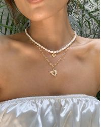 En Route Jewelry Smiley Pearl Necklace - Multicolor