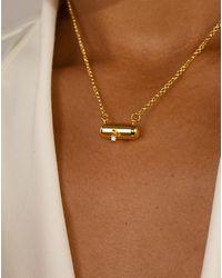 En Route Jewelry Pill Necklace - Metallic