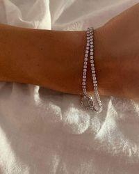 En Route Jewelry Amaya Tennis Bracelet - Pink