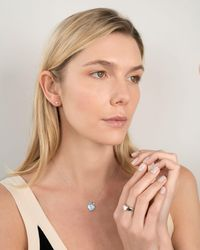 En Route Jewelry Blue Pave Locket Necklace - Multicolor