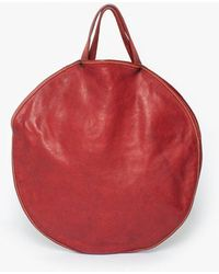 Guidi - Crb01 Round Red Tote - Lyst