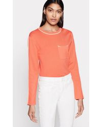 Equipment Lison Silk & Cotton Jumper - Orange