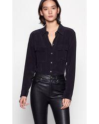 Equipment Signature Silk Shirt - Black