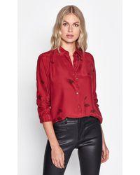 Equipment Essential Silk Shirt - Red