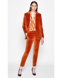 Equipment Jacque Velvet Blazer - Orange