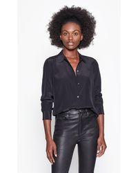 Equipment Leema Silk Shirt By - Black