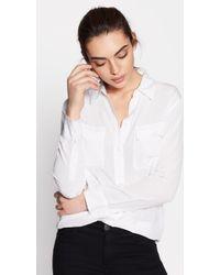 Equipment Slim Signature Silk Shirt By - White