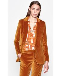 Equipment Jacque Velvet Blazer - Orange