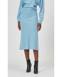 Equipment Daveney Wool Skirt By - Blue