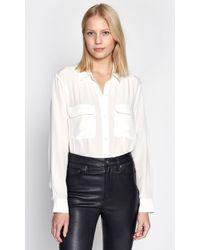 Equipment Slim Signature Silk Shirt - White