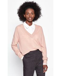 Equipment Madalene V-neck Cashmere Jumper - Pink