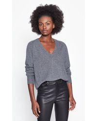 Equipment Madalene V-neck Cashmere Jumper - Grey