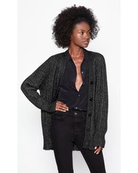 Equipment Button-up Cardigan - Black