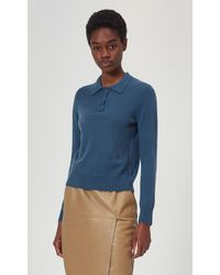 Equipment Madalyn Cashmere Polo Jumper By - Blue