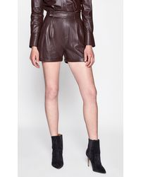 Equipment Breeta Leather Short By - Multicolour