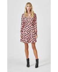 Equipment Long Sleeve Danette Dress By - Pink