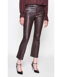Equipment Sebritte Leather Trouser By - Multicolor