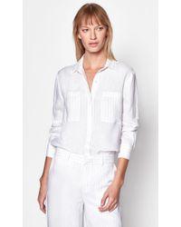 Equipment Aceline Linen Shirt - White