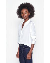 Equipment Leema Silk Shirt By - White