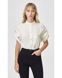 Equipment Drace Linen Shirt By - Multicolour