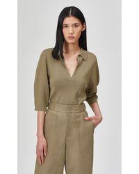 Equipment Belisse Short Sleeve Sweater By - Green