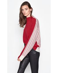 Equipment Veleraine Wool & Cashmere Mockneck Jumper - Red