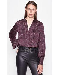 Equipment Garion Shirt - Purple