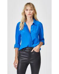 Equipment Cherilene Silk Shirt By - Blue