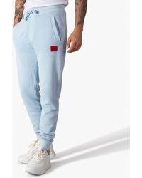 HUGO Doak D Garment Dyed Cuffed Jogger - Blue