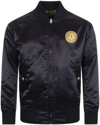Versace Jeans Couture Print Baroque Reversible Bomber Jacket - Multicolour