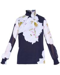 Ted Baker - Graycie High Neck Blouse - Lyst