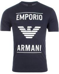 Emporio Armani Vector Logo T-shirt - Blue
