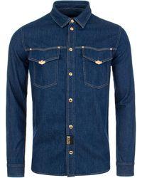Versace Jeans Couture Slim Fit Denim Icon Shirt - Blue