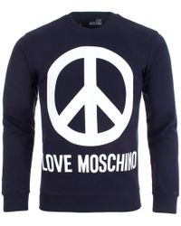 Love Moschino - Peace Sign Jumper - Lyst